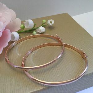Jewelry - 🌸NEW18kS/S ROSE GOLD HINGED BRACELETS 🌸